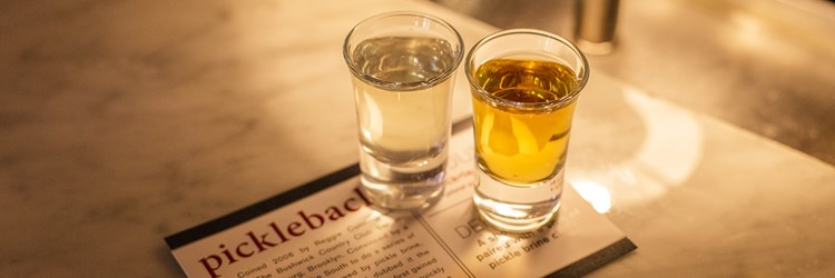 Pickle Back Shot Mason Street Grill