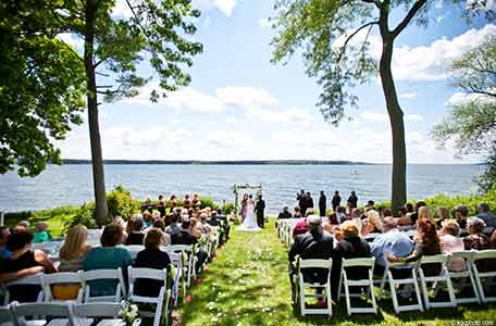 wisconsin wedding venues, green lake wi, heidel house resort & spa