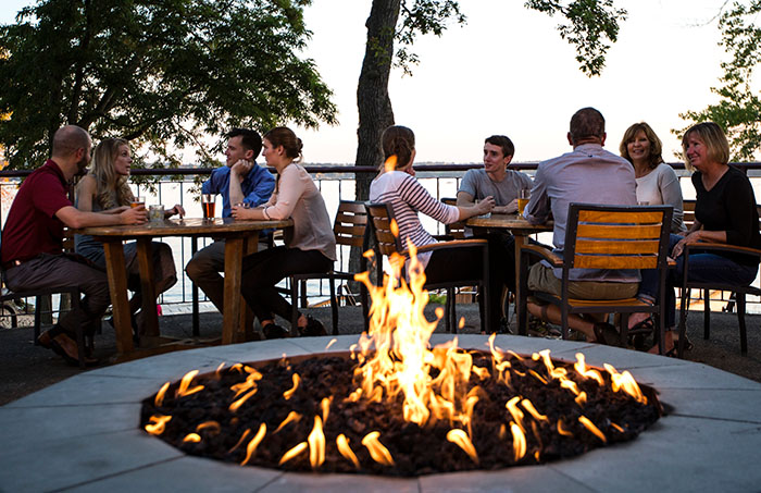 BoatHouse Fire Pit, green lake wi, heidel house resort & spa
