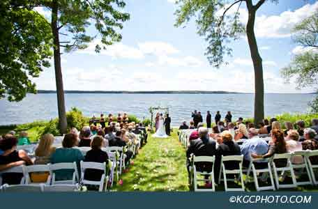 grey rock outdoor wedding venue green lake wisconsin