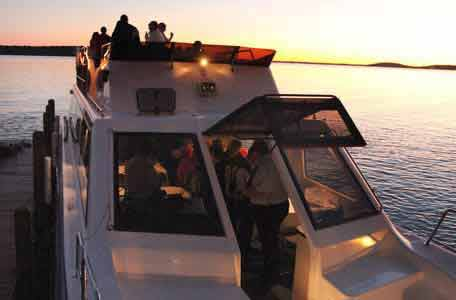Sightseeing Tours in green lake, yacht cruises, cruises on green lake wi