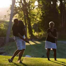 Golf in Green Lake