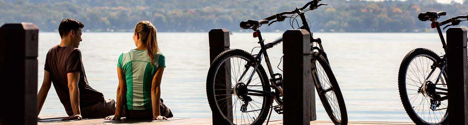 Biking and Hiking in Green Lake