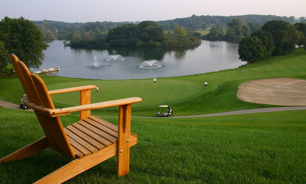 Chair overlooking Grand Geneva golf course