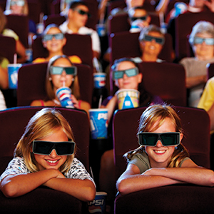 Kids in Theatre with 3D glasses