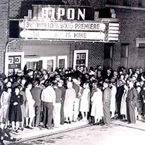 People lined up outside Ripon Theatre