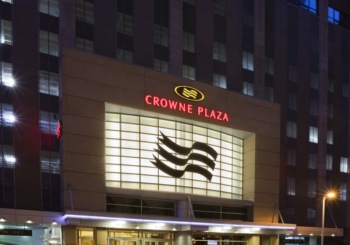 Exterior of the Crowne Plaza