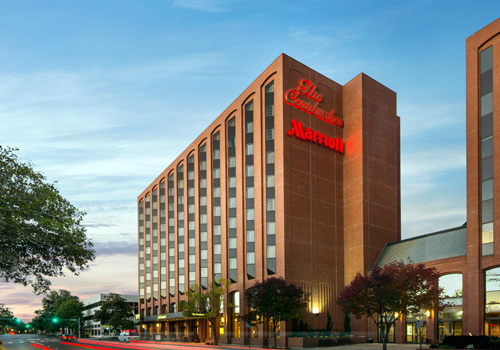 Exterior of the Lincoln Marriott Cornhusker Hotel