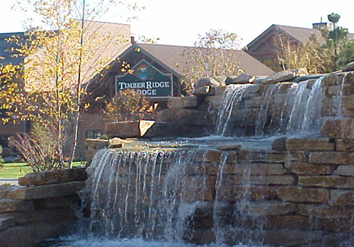 Fountain outside Timber Ridge Resort