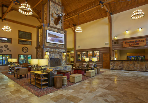 Timber Ridge Lodge & Waterpark Lobby
