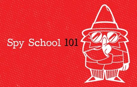 Spy School with Spy drawing