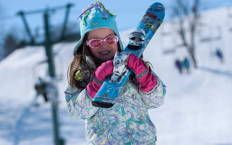 Girl with Skiis